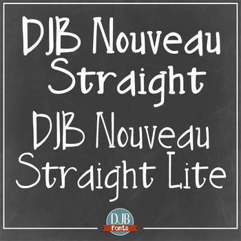 DJB Nouveau Straight Font: Personal Use