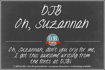 DJB Oh, Suzannah Font - Personal Use
