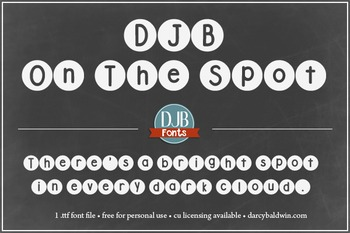 DJB On the Spot Font - Personal Use