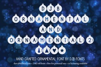 DJB Ornamental Font: Personal Use