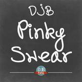 DJB Pinky Swear Font - Personal Use