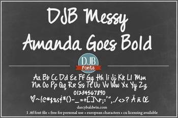 DJB Messy Amanda Goes Bold Font - Personal Use