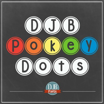 DJB Pokey Dots Font - Personal Use