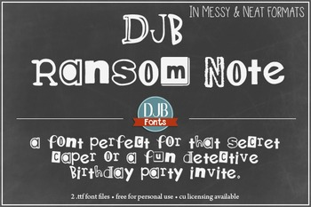 DJB Ransom Note Font - Personal Use
