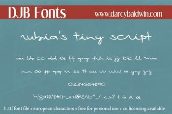 DJB Rubia's Tiny Script - Personal Use
