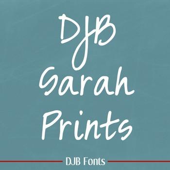 DJB Sarah Prints Font - Personal Use