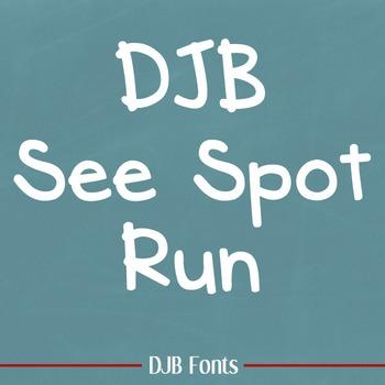DJB See Spot Run Font: Personal Use