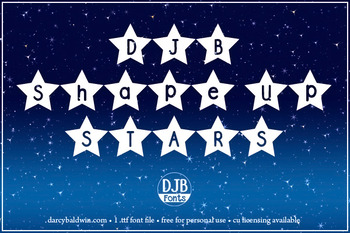DJB Shape Up Stars Font: Personal Use