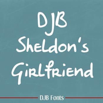DJB Sheldon's Girlfriend Font - Personal Use