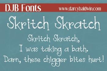 DJB Skritch Skratch Font - Personal Use