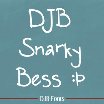 DJB Snarky Bess Font - Personal Use