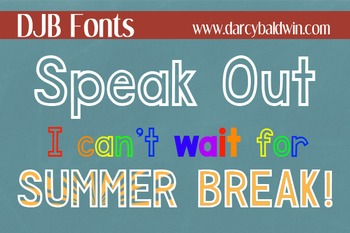 DJB Speak Out Outline Font - Personal Use