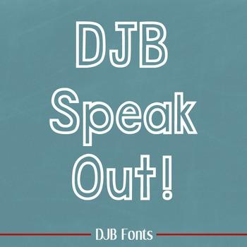 DJB Speak Out Outline Font - Personal Use