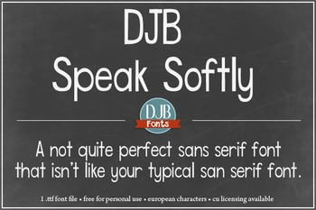 DJB Speak Softly Font - Personal Use