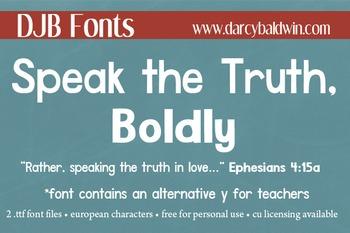 DJB Speak the Truth, Boldly - Personal Use