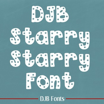 DJB Starry Starry Font - Personal Use