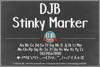 DJB Stinky Marker Font - Personal Use