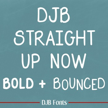 DJB Straight Up Now Font Family: Personal Use