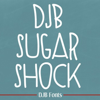 DJB Sugar Shock Fonts - Personal Use