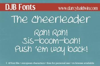DJB The Cheerleader Font - Personal Use