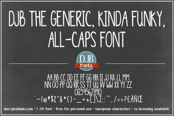DJB The Generic Font: Personal Use