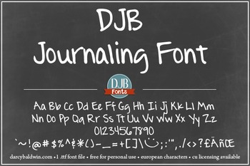 DJB The Journaling Font - Personal Use