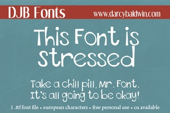 DJB This Font is Stressed - Personal Use