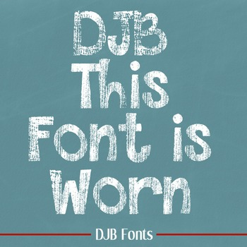 DJB This Font is Worn - Personal Use