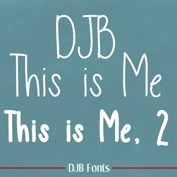 DJB This is Me & This is Me, 2 Fonts: Personal Use