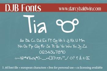 DJB Tia Font - Personal Use