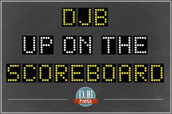 DJB Up on the Scoreboard Font - Personal Use