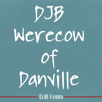DJB Werecow of Danville Font - Personal Use