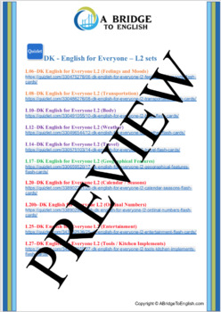 DK English for Everyone L2 on Quizlet