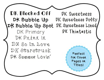 DK Fonts Personal & Commercial Use Lifetime License