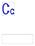 DL Alphabet Template- BLUE