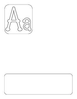 DL Alphabet Template NON-COLORED