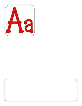 DL Alphabet Template-Spanish Red
