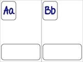 DL Alphabet Template in Red & Blue (half sheet)