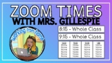 DL Zoom Times & Daily Slide Templates