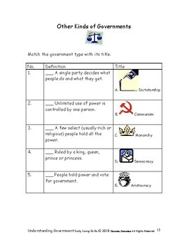 DLS Understanding Government--Daily Living Skills