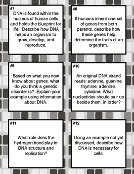 DNA Article Notes and Task Cards