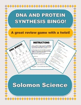 DNA Biology BINGO! EDITABLE VERSION!