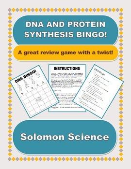 DNA Biology BINGO! EDITABLE VERSION!