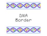 DNA Bulletin Board Border Printable Full Color PDF Biology Science