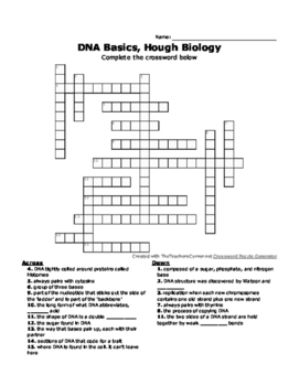 DNA Crossword