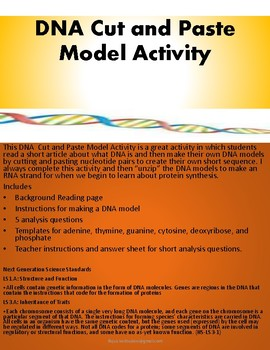 DNA Cut and Paste Model Activity