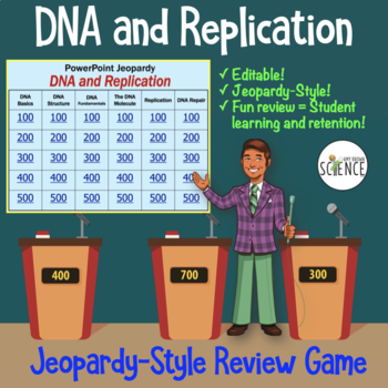 DNA (Deoxyribonucleic Acid) and Replication Powerpoint Jeopardy Review Game