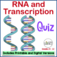 DNA (Deoxyribonucleic Acid), RNA, Protein Synthesis Quizzes Set of 3