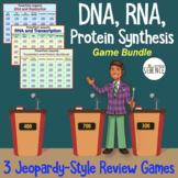 DNA (Deoxyribonucleic Acid), RNA, Translation Jeopardy Games Set of 3