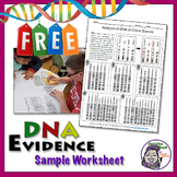 DNA Evidence Worksheet Sample - Forensic Science 101